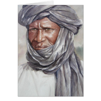 Hombre Turbaned del Tuareg Tarjeta De Felicitación