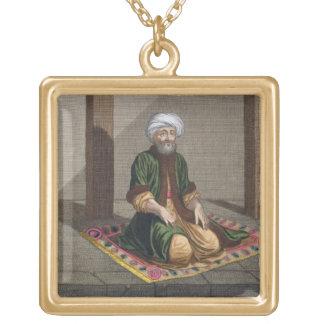 Hombre turco, rogando, siglo XVIII (grabado) Colgante Cuadrado
