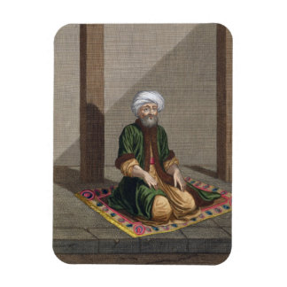Hombre turco, rogando, siglo XVIII (grabado) Iman Rectangular