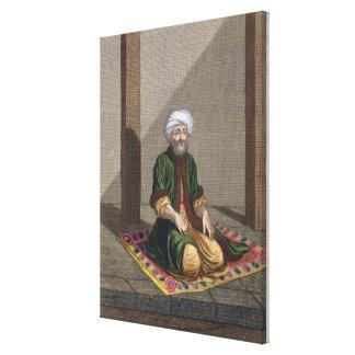 Hombre turco, rogando, siglo XVIII (grabado) Impresión En Lienzo