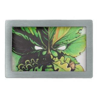 Hombre verde céltico del bosque hebillas de cinturón rectangulares