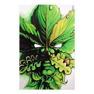Hombre verde céltico del bosque papelería