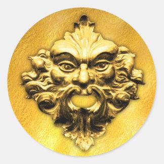 Hombre verde de oro - pegatina