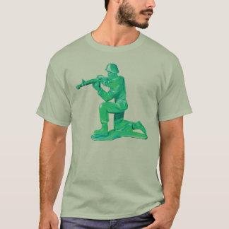 Hombre verde del ejército playera