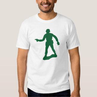 Hombre verde del ejército poleras