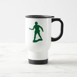 Hombre verde del ejército taza térmica