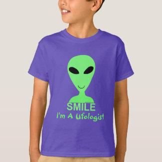 Hombre verde del extranjero LGM de la sonrisa Playera