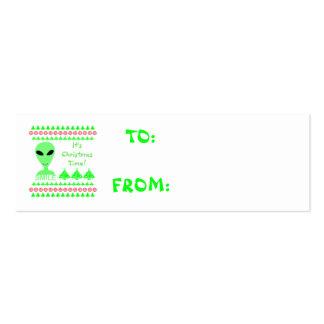 Hombre verde del extranjero LGM de la sonrisa Tarjetas De Visita Mini