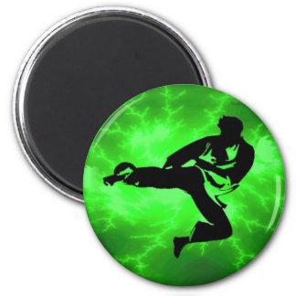 Hombre verde del relámpago de los artes marciales iman