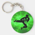 Hombre verde del relámpago de los artes marciales llaveros personalizados