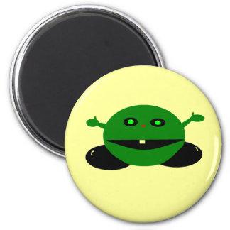 Hombre verde imán redondo 5 cm