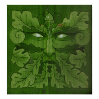 Hombre verde poster
