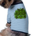 Hombre verde ropa de perros