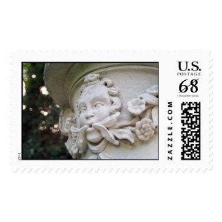Hombre verde sellos postales