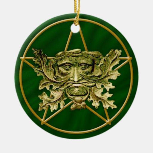 Hombre verde y Pentagram #3 - ornamento Adorno Para Reyes