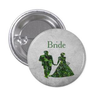 Hombre verde y señora verde Bride Handfasting Pin Pin Redondo 2,5 Cm