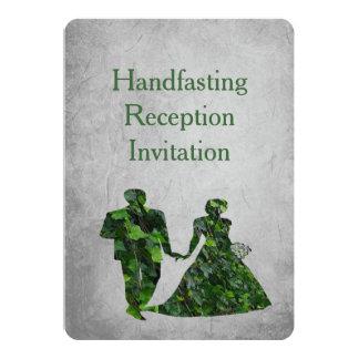 """Hombre verde y señora verde Reception Invitation Invitación 5"""" X 7"""""""