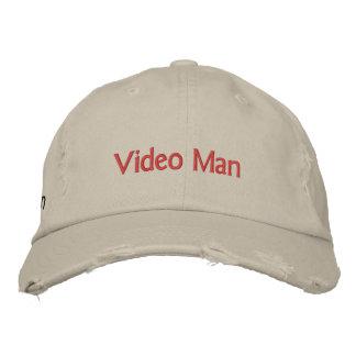 Hombre video gorra de beisbol bordada