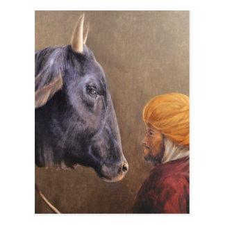 Hombre y Bull Postal