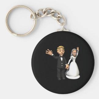 Hombre y esposa llaveros personalizados