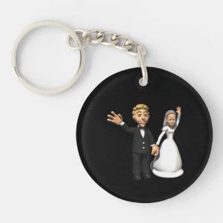 Hombre y esposa llavero