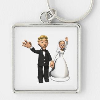 Hombre y esposa llavero personalizado
