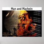 Hombre y Machien Poster