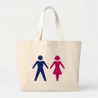 Hombre y mujer bolsa tela grande