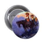 Hombre y mujer en caballos, Anderson, vaqueros del Pins