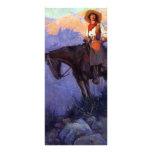 Hombre y mujer en caballos, Anderson, vaqueros del Lona