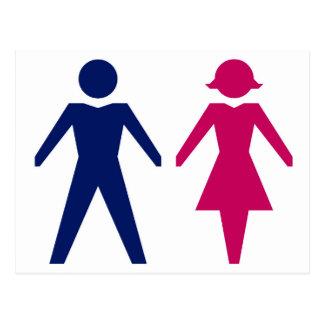 Hombre y mujer postal