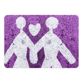 Hombre y mujeres púrpuras en amor en Italia Anuncio