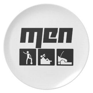 Hombres 3 platos