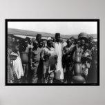 Hombres africanos con los instrumentos musicales K Impresiones