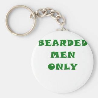 Hombres barbudos solamente llavero