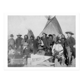 Hombres blancos (Buffalo Bill incluyendo) y Lakota Tarjeta Postal