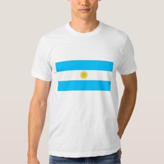 Hombres blancos T-shirt con bandera de Argentina Camisas