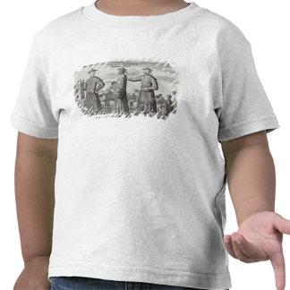 Hombres chinos una descripción general de una cue camiseta