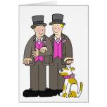Hombres civiles del matrimonio homosexual dos de l tarjetas