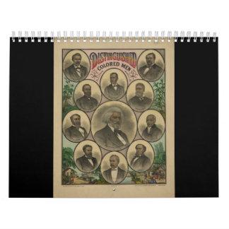 Hombres coloreados distinguidos Frederick Douglass Calendarios