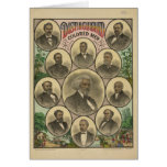 Hombres coloreados distinguidos Frederick Douglass Felicitación