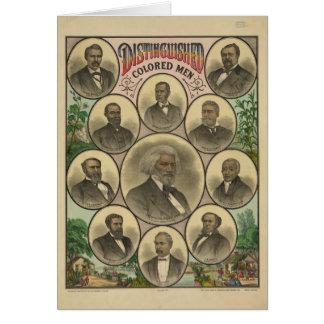 Hombres coloreados distinguidos Frederick Douglass Tarjeta De Felicitación