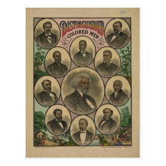 Hombres coloreados distinguidos Frederick Douglass Postal