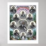 Hombres coloreados distinguidos poster