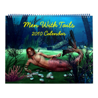 Hombres con las colas calendario de pared