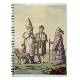 Hombres de Alaska y mujeres vestidos para pescar ( Libro De Apuntes Con Espiral
