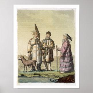 Hombres de Alaska y mujeres vestidos para pescar ( Impresiones