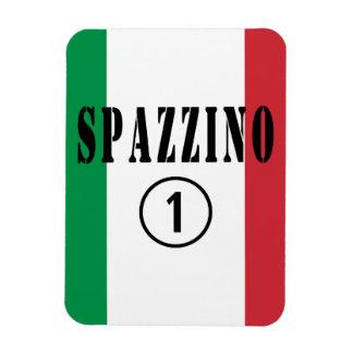 Hombres de basura italianos: Uno de Spazzino Iman De Vinilo