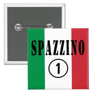 Hombres de basura italianos: Uno de Spazzino Pin Cuadrada 5 Cm