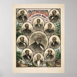Hombres de color distinguidos póster